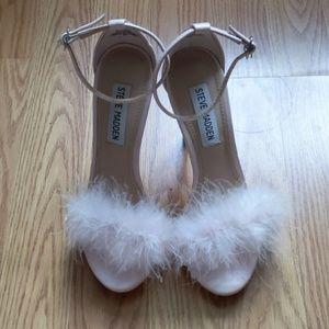Steve Madden Fluffy Pink Heels